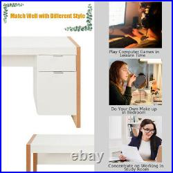 Modern Computer Desk Game Table Home Office Workstation with Storage Cabinet