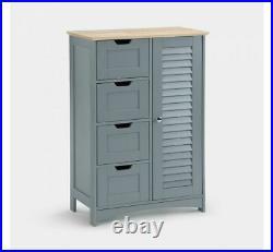 Modern Storage Cabinet Drawers Side Door Cupboard Rustic Hall Furniture Table