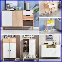 Modern Storage Cabinet Shoe Rack Sideboard Table Cupboard Organiser Hallway Home