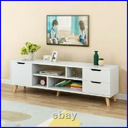 Modern TV Cabinet Stand Media Console Table With Storage Shelf Drawers Living Room