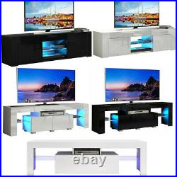 Modern TV Unit Cabinet Stand TV Table Storage Home Furniture High Gloss LED MDF