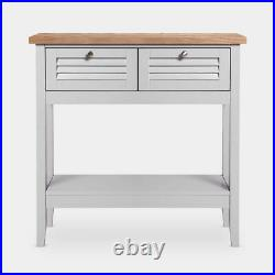 New Rustic Grey Cabinet Vintage Retro Cupboard Small Console Side Storage Table