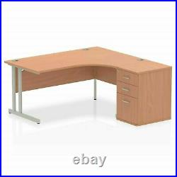 Office Corner desk Left 2220 mm with storage Cabinet & Round Computer table top