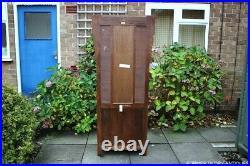 Old Charm Tudor Oak Cabinet Cupboard Hall Coat Hat Stick Stand Table Mirror Rack