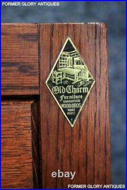 Old Charm Tudor Oak Hall Cabinet Cupboard Dresser Base Sideboard Tv Stand Table