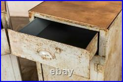One Tall Industrial Style Metal Bedside Cabinets Or Storage Cupboard