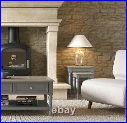 Painted Grey Living Room Furniture French Oak Storage Sideboard Cabinet TV Unit