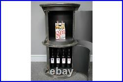Retro Industrial Style Metal Cabinet Side Bistro Table Bar Storage Cupboard