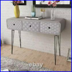 Retro Sideboard Cabinet Bedside Table Storage Cupboard with Drawers Night Stand
