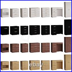Riano Drawer Chest Dressing Table Bedside Storage Cabinet Bedroom Wood Furniture