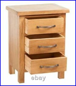 Rustic Bedside Cabinet 3 Drawer Storage Nightstand Table Bedroom Furniture Wood
