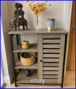 Rustic Grey Cabinet Vintage Industrial Cupboard Small Console Side Storage Table