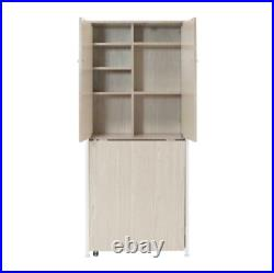 Sew Ready Armoire MDF Craft or Home Office Storage Cabinet with Fold-Out Table