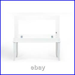 Shabby Chic Coffee Table With Open Glass Top Storage Showcase Display Cabinet