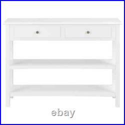 Sideboard MDF French Style Side Cabinet Storage Wooden Console Table 2 Drawers