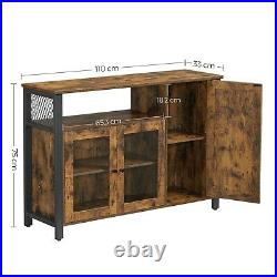 Sideboard Storage Cabinet Buffet Table with 3 Doors For Dining Room LSC096B01