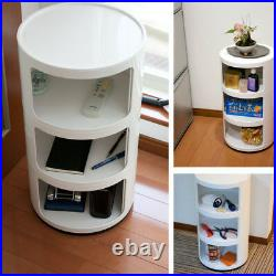 Slim Tall Bedside Drawer Table White Bedroom Storage Unit Pair Single Bathroom