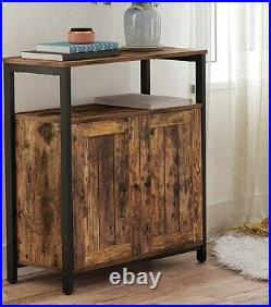 Small Industrial Cabinet Rustic Vintage Side Console Table Cupboard Storage Unit