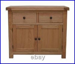 Small Oak Sideboard / Storage Cupboard / Solid Wood Buffet Table / New Dorset