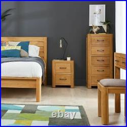 Soho Oak 2 Drawer Bedside Table Side Cabinet Nightstand Storage Unit SC01