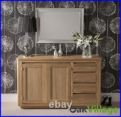 Solid Oak Large Sideboard Storage Cupboard / Solid Wood Buffet Table Soho