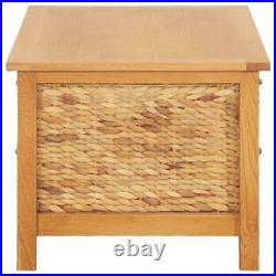 Solid Oak Sideboard Storage Cabinet Baskets Coffee Table Hallway Chest Cupboard