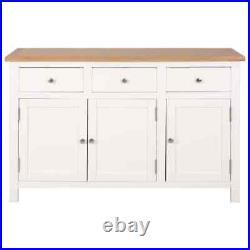 Solid Oak Wood Sideboard Storag Cabinet Organiser Buffet Hall Table