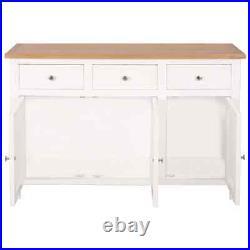 Solid Oak Wood Sideboard Storag Cabinet Organiser Buffet Hall Table 3 Drawers