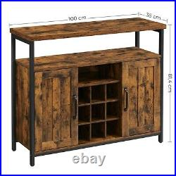 Storage Cabinet Sideboard and Buffet Table with Wine Holder Cupboard LSC094B01