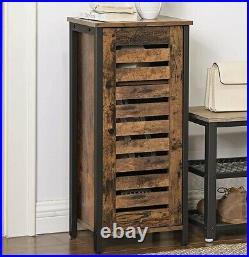 Tall Boy Bedside Cabinet Industrial Cupboard Side Table Bedroom Bathroom Storage