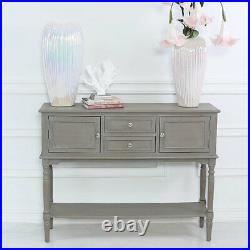Taupe Wood Console Sideboard Storage Cabinet Hallway Wooden Display Table