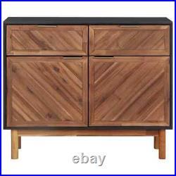 VidaXL Solid Acacia Wood Sideboard MDF Storage Cabinet Table Home Furniture