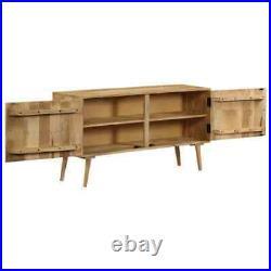VidaXL Solid Mango Wood Sideboard 120x30x60cm Storage Cabinet Display Table
