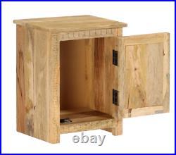 Vintage Bedside Table Industrial Style Furniture Small Side Storage Cabinet Door