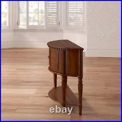 Vintage Demilune Entry Table With Curved Front Small cupboard Storage Cherry New