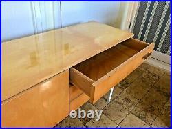 Vintage German 1950s Wood Sideboard Dressing Table Cabinet Storage Bedroom