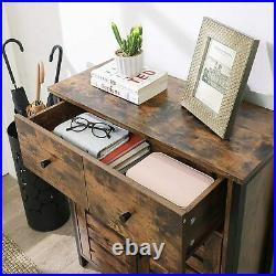 Vintage Industrial Cupboard Cabinet Rustic Side Table Sideboard Storage Unit
