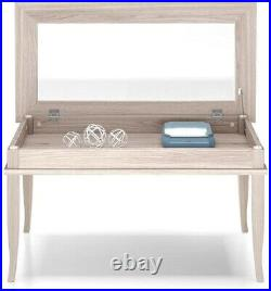 Vintage Rustic Coffee Table With Open Glass Top Storage Showcase Display Cabinet