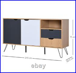 Vintage Storage Sideboard Retro Side Cabinet Console Table Unit Metal Furniture