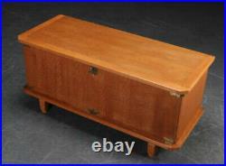 Vintage retro wood Danish oak tv stand unit cabinet sideboard storage cupboard