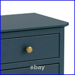Westbury Blue Bedside Table / Slim Modern Small Storage Cabinet / Lamp Table