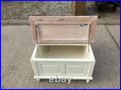 White Coffee Table / Double LID / Storage Box / Wood / Cabinet / Box / New