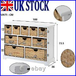 White Large Storage Baskets Chest Of Drawers Storage Cabinet Side Table Bedroom