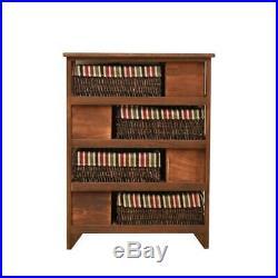 Wicker Basket Cabinet Wood Maize Bedside Table Drawer Bathroom Hallway Unit New