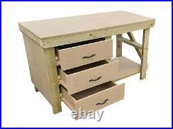 Wooden MDF Tool Cabinet Workbench With Storage Shelf Large Garage Work Table