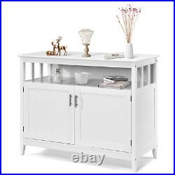 Wooden Storage Cabinet Freestanding Sideboard Buffet Server Table Dining Room